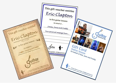 Gift vouchers guitar lessons
